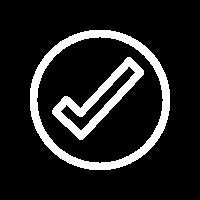 check mark white icon